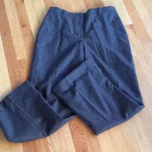 Brooks brothers ladies dark gray pleated trousers